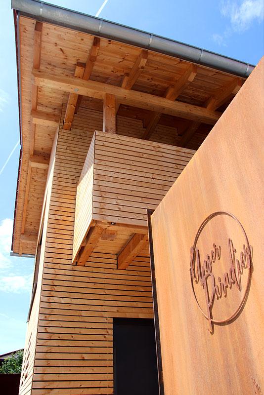 Holzhaus Neubau Architektin Angerer